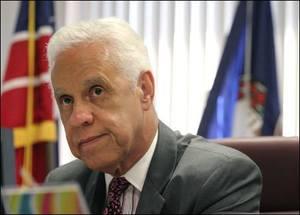 Governor Wilder at Desk